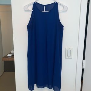 By & by simple blue mini dress